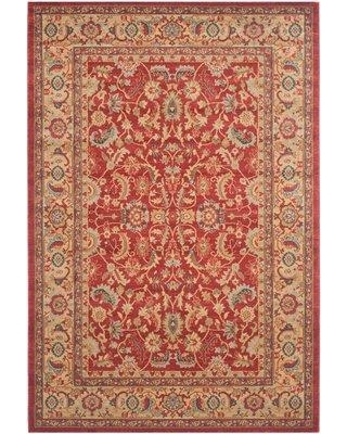 """Astoria Grand Pennypacker Oriental Red/Beige/Blue Area Rug X111142101 Rug Size: Rectangle 5'1"""" x 7'7"""""""