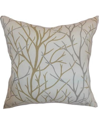 "The Pillow Collection Fderik Trees Cotton Throw Pillow P Size: 20"" x 20"" Color: Toffee"