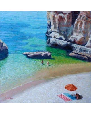 """Highland Dunes 'Secluded Cove' Acrylic Painting Print HLDS6241 Size: 24"""" H x 24"""" W Format: Canvas"""
