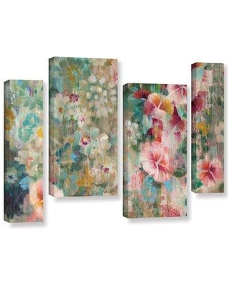 "Bungalow Rose Flower Shower Crop 4 Piece Painting Print on Wrapped Canvas Set BNRS2669 Size: 36"" H x 54"" W x 2"" D"
