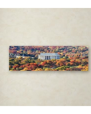"""Trademark Fine Art 'Lincoln Memorial' - Wrapped Canvas Photographic Print on Canvas GO0020-C Size: 13"""" H x 16"""" W x 0.75"""" D"""