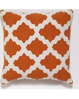 India's Heritage Cotton Woven Throw Pillow INHR1380 Color: Orange