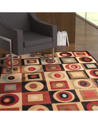 Remarkable Deals On Scituate Geometric Flatweave Beige Brown Green Area Rug Ebern Designs Rug Size Rectangle 7 10 X 10 10