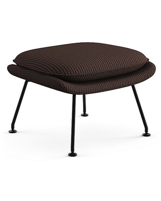 Saarinen Womb Ottoman by Knoll - Color: Brown - Finish: Black - (74YM-BL-H800/43)
