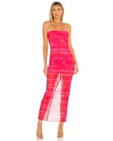 h:ours Rios Maxi Dress in Fuchsia. - size XS (also in M, S, XXS)