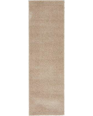 """Ebern Designs Amatury Taupe Area Rug W001472994 Rug Size: Runner 2' x 6'7"""""""