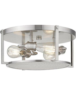 Williston Forge Vigue 3-Light Flush Mount W001361948 Finish: Brushed Nickel
