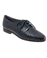 Trotters Navy Lizzie Woven Oxford