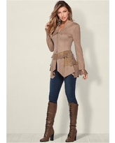 """""""Faux Suede AND Lace Jacket Jackets & Coats - Neutral"""""""