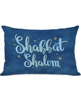 The Holiday Aisle Shabbat Shalom Lumbar Pillow THLY3251