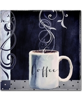 "'Cafe Blue I' by Color Bakery Ready to Hang Canvas Wall Art (24""x24""), Multi-Colored"