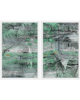 "Marmont Hill 'Mobile Diptych' Framed Painting Print MH-BANLEA-27-NWFP Size: 45"" H x 60"" W x 1.5"" D"
