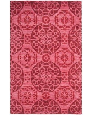 Bungalow Rose Kouerga Wool Hand-Tufted Red Area Rug BNGL8704 Rug Size: Rectangle 5' x 8'