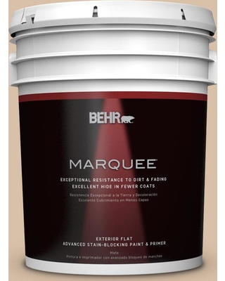 BEHR MARQUEE 5 gal. #S240-3 Ash Blonde Flat Exterior Paint and Primer in One