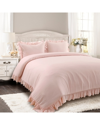 3pc Full/Queen Reyna Comforter Set Blush - Lush Décor