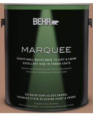 BEHR MARQUEE 1 gal. #ecc-63-3 Homeland Semi-Gloss Enamel Exterior Paint and Primer in One