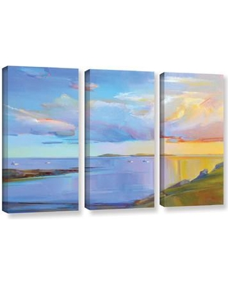 """Latitude Run Summer Cove 3 Piece Painting Print on Wrapped Canvas Set LTRN7312 Size: 24"""" H x 36"""" W x 2"""" D"""
