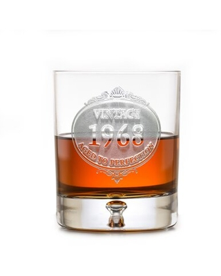 Customized Engraved 11 oz. Lead Free Crystal Whiskey Glass