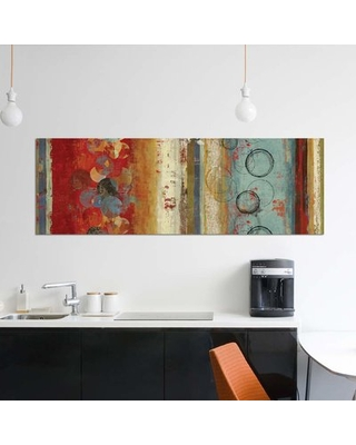 "'Field Of Blue' By Tom Reeves Graphic Art Print on Wrapped Canvas East Urban Home Size: 16"" H x 48"" W x 1.5"" D"