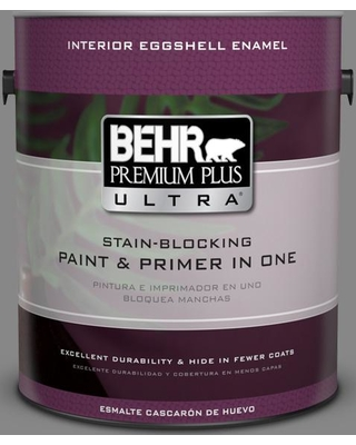 BEHR ULTRA 1 gal. #PPU26-04 Falcon Gray Eggshell Enamel Interior Paint and Primer in One