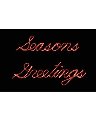 Seasons Greeting Script Sign Lighted Display Set The Holiday Aisle®