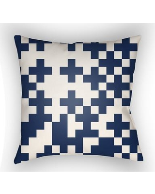 """George Oliver Walpole Square Throw Pillow HPMW2284 Size: 20"""" H x 20"""" W x 4"""" D Color: White"""
