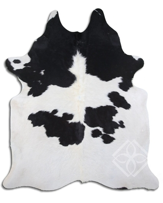 Cowhide Area Rugs NATURAL HAIR ON COWHIDE BLACK AND WHITE 2 - 3 M GRADE B size ( 22 - 32 sqft ) - Big