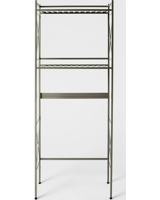 Huge Deal on Square Tube Over The Toilet Etagere Brushed Nickel ...