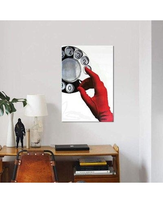 """East Urban Home 'Call Me' Graphic Art Print on Canvas EBHS7827 Size: 26"""" H x 18"""" W x 1.5"""" D"""