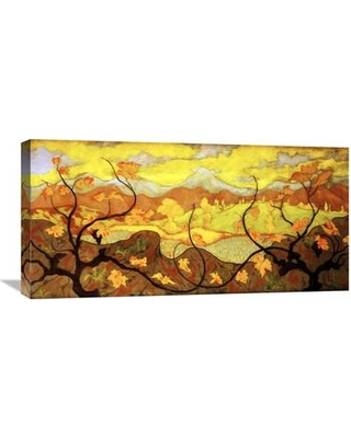 """Global Gallery The Vines by Paul Ranson Painting Print on Wrapped Canvas GCS-267615-22-142 / GCS-267615-30-142 Size: 15"""" H x 30"""" W x 1.5"""" D"""