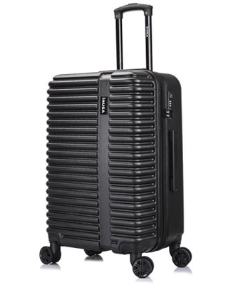 InUSA Hardside 24 Inch Medium Lightweight Luggage with Ergonomic Handles and TSA Lock, Ally Collection Travel Suitcase with Spinner Wheels, Black
