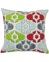 Red Barrel Studio Saylorsburg Geometric Floor Pillow RBRS7351 Color: Holiday