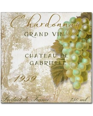 """Trademark Art 'Grand Vin Chardonnay' by Color Bakery Vintage Advertisement on Wrapped Canvas ALI4395-C Size: 35"""" H x 35"""" W x 2"""" D"""