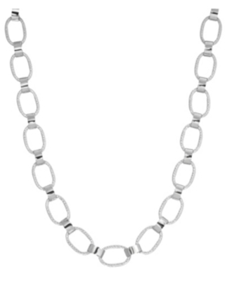 2028 Women's Silver Tone Link Necklace