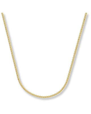 """Jared The Galleria Of Jewelry Wheat Chain Necklace 14K Yellow Gold 20"""" Length"""