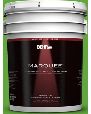 BEHR MARQUEE 5 gal. #430B-6 Caterpillar Flat Exterior Paint and Primer in One