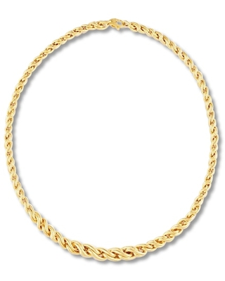 Jared The Galleria Of Jewelry Women's Wheat Chain Necklace 14K Yellow Gold