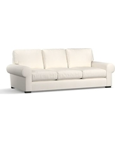 "Turner Roll Arm Upholstered Sofa 90"", Down Blend Wrapped Cushions, Denim Warm White"
