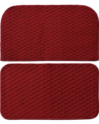 Garland Rug Town Square Chili Red 2 ft. x 2 ft. 2-Piece Rug Set