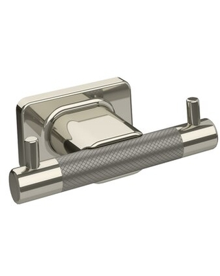 Esquire Double Wall Mounted Robe Hook Amerock Finish: Polished Nickel/Stainless Steel