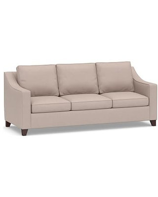 Cameron Slope Arm Upholstered Side Sleeper Sofa, Polyester Wrapped Cushions, Performance Heathered Tweed Desert