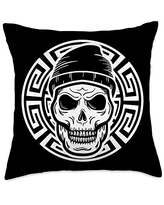 2020 Sales On Culture Cultivation Spiritual Archeology Maya Ancient Ethnic Aztec Warrior Skull People Civilization Gift Throw Pillow 18x18 Multicolor
