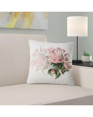 "East Urban Home Floral Rose Bouquet Watercolor Pillow FUSI5953 Size: 18"" x 18"" Product Type: Throw Pillow"