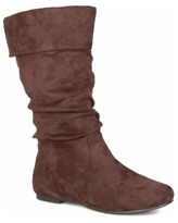 Journee Collection Women's Wide Calf Shelley-3 Boot - Brown