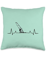Windsurfing Equipments Accessories Gifts Shirts Sails Surfer-Boards Windsurfers Throw Pillow, 16x16, Multicolor