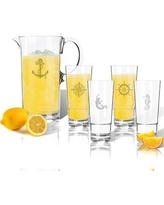 Carved Solutions 5-Piece Beverage Serving Set ACL-TPIT55hb16s4-pd-nautical