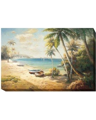 """Artistic Home Gallery 'Paradise Bay' Painting Print on Wrapped Canvas 608EG Size: 30"""" H x 45"""" W x 1.5"""" D"""