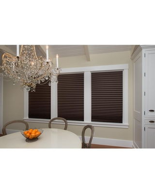 Redi Shade Cut-to-Size Chocolate Brown Cordless Room Darkening Privacy Temporary Shades 36 in. W x 72