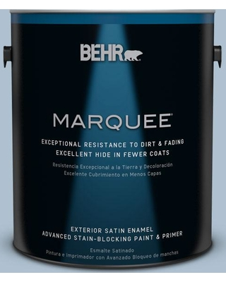 BEHR MARQUEE 1 gal. #S510-3 Ombre Blue Satin Enamel Exterior Paint and Primer in One