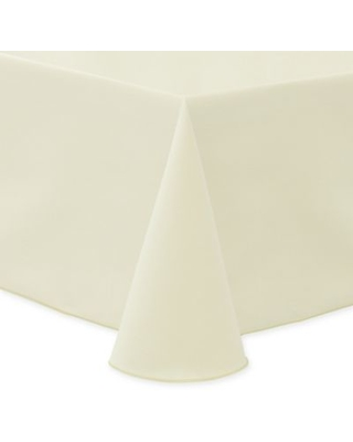Ultimate Textile Twill 90-Inch x 132-Inch Oblong Tablecloth in Ivory